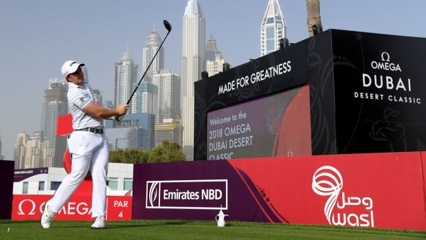 Paul Dunne carded an opening round of 66 in Dubai. Photo: Ross Kinnaird/Getty Images