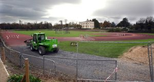 A view of the athletics track at Belfield before it was taken up. Photo: Cathal Noonan/Inpho