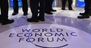Davos: home to 3,000 delegates and journalists for four days. Photograph: Jason Alden/Bloomberg