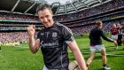 Colm Callanan celebrates victory in the  2017 All-Ireland senior hurling championship final at Croke Park in Dublin. Photograph: ©INPHO/James Crombie