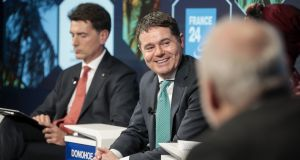 Minister for Finance Paschal Donohoe in Davos. Photograph: Jason Alden/Bloomberg