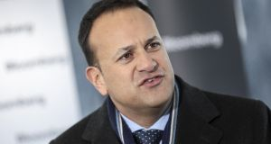 "Leo Varadkar in Davos on Thursday: ""America made itself great by trading and accepting migrants from all over the world."" Photograph: Simon Dawson/Bloomberg"