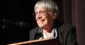 Ursula Le Guin: raised questions in the fields of science fiction and fantasy that no one else was asking at the time. Photograph: Jack Liu via The New York Times