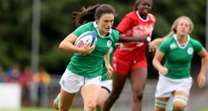 Ireland's Lucy Mulhall has taken a roundabout way to the women's sevens rugby World Series. Photo: Dan Sheridan/Inpho