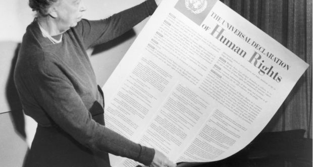 have human rights created an entitlement culture  eleanor roosevelt holds up a copy of the universal declaration of human rights 1948