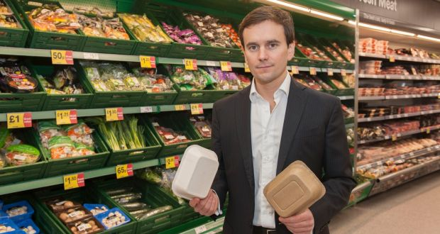 16a51171b3aa Iceland managing director Richard Walker with examples of non-plastic  packaging