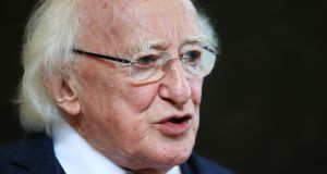 President Michael D Higgins: He has not yet indicated if he intends to contest a second term. Photograph:  Brian Lawless