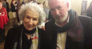 Margaret Atwood and Michael O'Loughlin: She listened patiently to my gush, but was more interested in talking enthusiastically about the new Netflix production of Alias Grace, particularly its Irish aspects