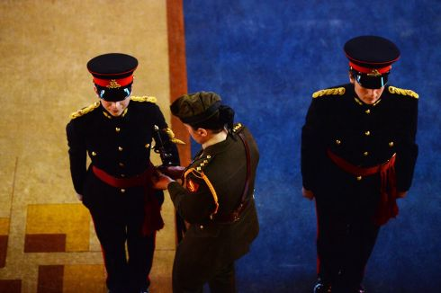 Members of the Armed Forces of Malta during the ceremony. Photograph: Alan Betson / The Irish Times