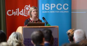 "Grainia Long, chief executive of the Irish Society for the Prevention of Cruelty to Children  described the case as ""shocking"" and said of particular note was Matthew Horan's ""ease of access to other adults who were prepared to collude in sharing images of the children"". Photograph: Dara Mac Donaill"