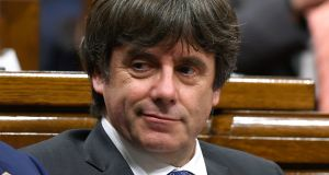 Catalan president Carles Puigdemont fled to Belgium in October. Photograph: AFP