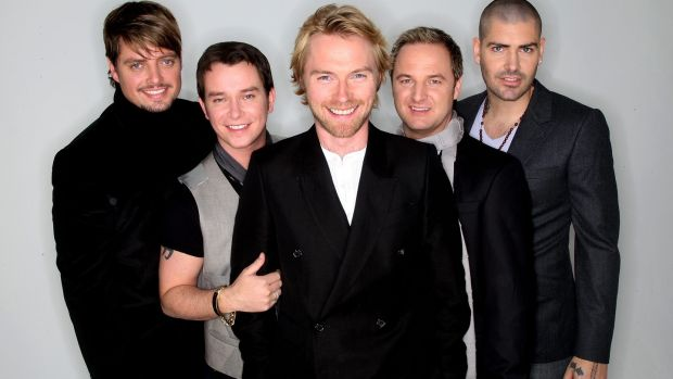 Boyzone's Keith Duffy, Stephen Gately, Ronan Keating, Mikey Graham and Shane Lynch in 2007: 'I used to pretend [Stephen] had girlfriends.' Photograph: Dave Hogan/Getty