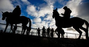 """I know people look through the white rails at the racetrack and see a sport. But to make that happen is agriculture,"" said trainer Ger Lyons. Photograph: Bryan Keane/Inpho"