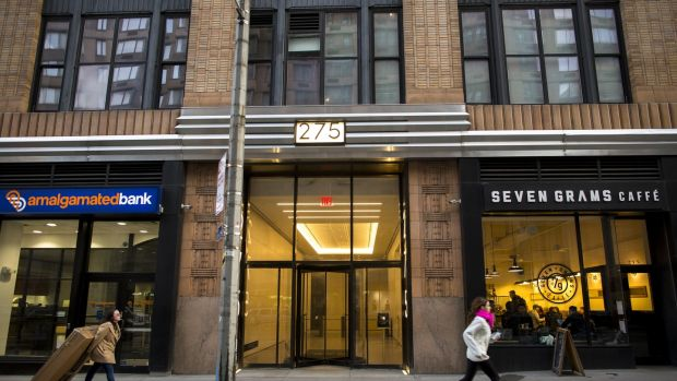 The building that the Florida-based company Devumi listed as its address, in Manhattan.