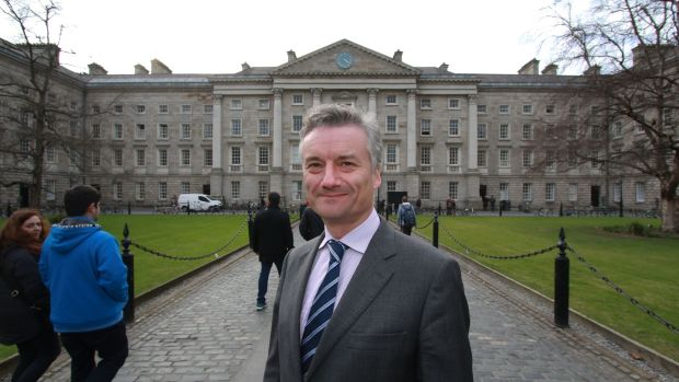 "Provost of Trinity College Dr Patrick Prendergast says improving educational attainment among underrepresented groups needs to focus on increasing numbers from diverse backgrounds and ensuring they ""stay the course"". Photograph: Nick Bradshaw"