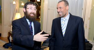 Rabbi Zalman Lent,  and Dr Ali Selim. Photograph: Dave Meehan