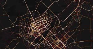 The Strava global heatmap can highlight areas with an unusually high concentration of connected, exercise-focused individuals. Photograph: Strava heatmap