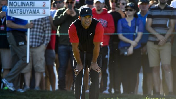 Tiger Woods secured a top-30 finish in San Diego. Photograph: Donald Miralle/Getty