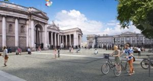 College Green in Dublin: class is very much at work in the controversy over its proposed civic plaza
