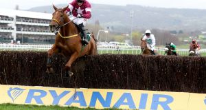 "Road to Respect: ""He's in the mix but it will be ground dependant . . . If it's too soft he'll go straight to Cheltenham,"" said Eddie O'Leary. Photograph: Dan Sheridan/Inpho"