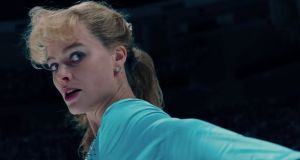 After one violent scene in 'I, Tonya', someone turns to the screen and says: 'This didn't happen'