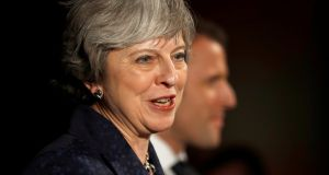 Britain's prime minister, Theresa May:  a confidence vote may be looming. Photograph: Peter Nicholls/Reuters