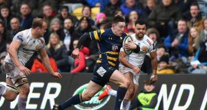 Josh Adams of Worcester Warriors will make his Wales debut in their Six Nations meeting with Scotland on Saturday. Photo: Tony Marshall/Getty Images