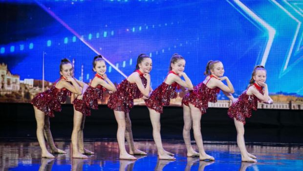 The Minis, a dance group from Firhouse's Steptacular Performing Arts School