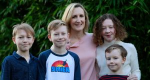 Prof Fionnuala Breathnach, who works in the Rotunda Hospital, with her children (from left) Oscar, Dara, Éabha and Matthew. Photograph Nick Bradshaw