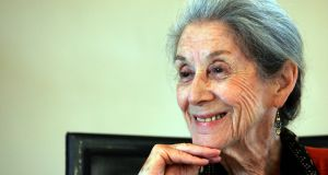 Nadine Gordimer in 2005: she wrote A Guest of Honour in 1970 and won the Nobel Prize in Literature in 1991.  Photograph: Radu Sigheti/Reuters