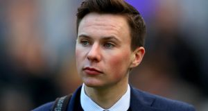 Joseph O'Brien: the Melbourne Cup-winning trainer is aiming  for an early midweek boost from West Coast Time at Down Royal on Wednesday. Photograph: James Crombie/Inpho