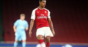 Former Republic of Ireland U17 international Marcus McGuane has joined Barcelona on a five-year deal from Arsenal. Photograph:  Kieran Galvin/NurPhoto via Getty Images