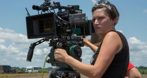 Rachel Morrison on the set of 'Mudbound'.  Photograph: Steve Dietl/Netflix via AP