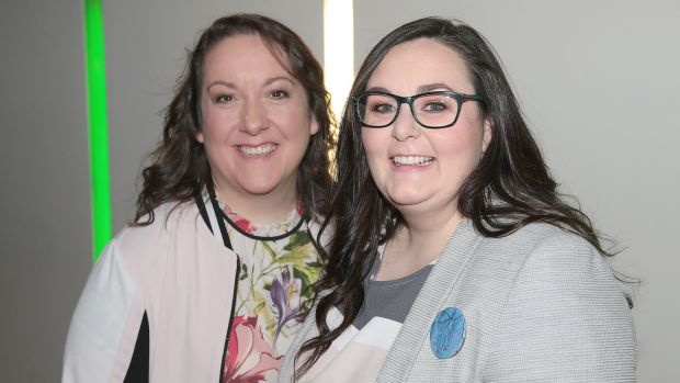 Director Aoife Doyle and producer Niamh Herrity of Pink Kong Studios, whose VR animation Aurora receives its world premiere at this year's Audi Dublin International Film Festival. Photograph: Brian McEvoy