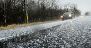 Met Éireann has issued a status yellow weather warning for hailstones from 12pm to 3pm on Wednesday. Photograph: iStock