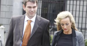 Sean Quinn Jr and his wife, Karen Woods have been receiving €100,000 per year in living expenses. Photograph: Collins Courts