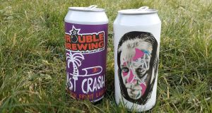 Trouble Brewing's Last Crash Passion Fruit Lager has a light, delicate aroma with a little bit of passion fruit and graininess