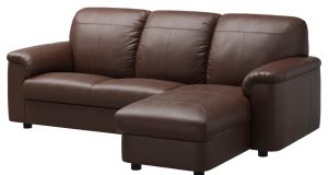 My German friend  eyed up the ubiquitous brown leather couch. 'Oh, it's so ugly. Do you think the landlord might consider changing it?'