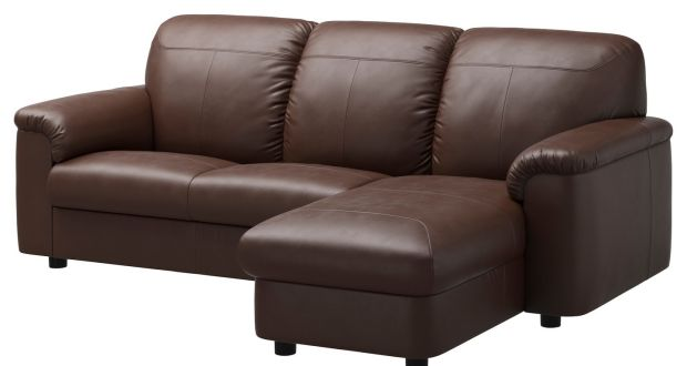 Every Dublin rental has a dark brown fake leather couch