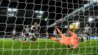Newcastle goalkeeper Karl Darlow puts the ball into his own net late in the Premier League game against Burnley at  St James' Park. Photograph: Stu Forster/Getty Images
