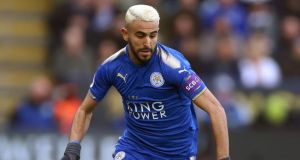 Manchester City failed in a deadline-day transfer raid for Leicester forward Riyad Mahrez. Photo: Nigel French/PA Wire