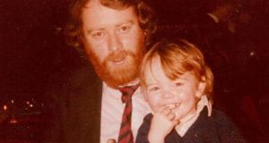 John O'Brien (right) with his father Derry, who died in Cork in January.