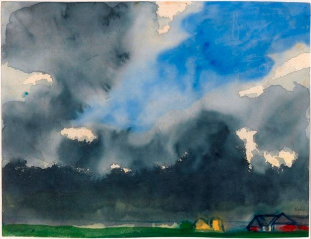 Rain over a Marsh, date unknown