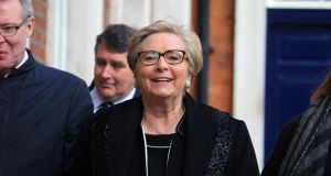 Former Minister for Justice  Frances Fitzgerald at the Charleton tribunal. Photograph: Collins