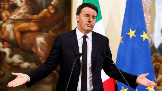 Italy's prime minister Matteo Renzi: he suffered a stinging rebuke from Italian voters in a referendum on his overhaul of the constitution in December 2016. Photograph: Reuters/Remo Casilli