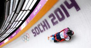 Alexander Tretiakov in action at the 2014 Winter Olympics in Sochi. Photograph: Cameron Spencer/Getty