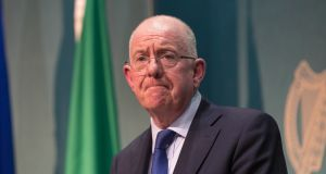 Minister for Justice and Equality, Charlie Flanagan, at a media briefing on the  publication of the Data Protection Bill. Photograph:  Gareth Chaney/Collins