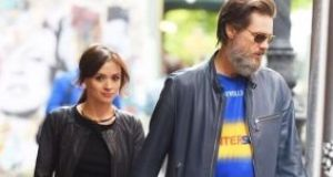 Cathríona White and Jim Carrey pictured together in Manhattan. Photograph: AKM-GSI/Splash News.