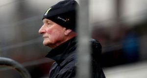 Kilkenny manager Brian Cody in the stands after being sent off during last week's league clash against Wexford. Photo: Ryan Byrne/Inpho