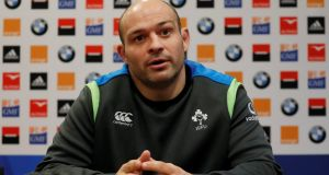Ireland's Rory Best speaks at a press conference ahead of the Six Nations match against France. Photo: Gonzalo Fuentes/Reuters